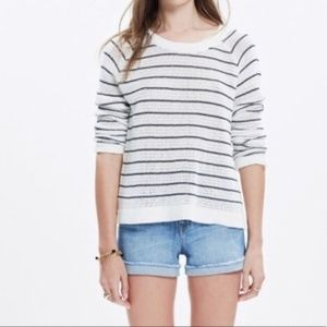 Madewell dockline pullover striped knit sweater